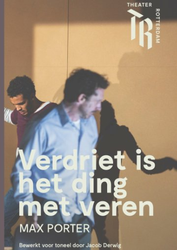 omslag Verdriet is het ding met veren Max Porter bewerking voor toneel Jacob-Derwig Theater Rotterdam